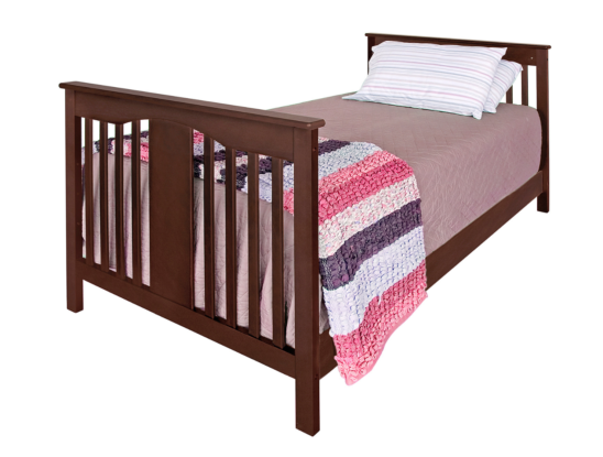 anny mini crib converted to a twin bed