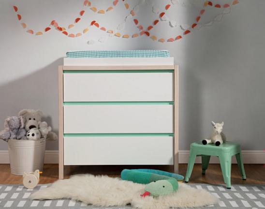 babyletto bingo 3 drawer dresser changer