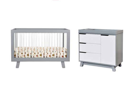 babyletto hudson crib and changer dresser