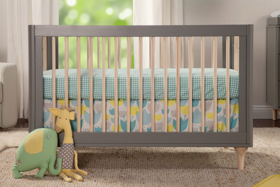 babyletto lolly crib in two tone