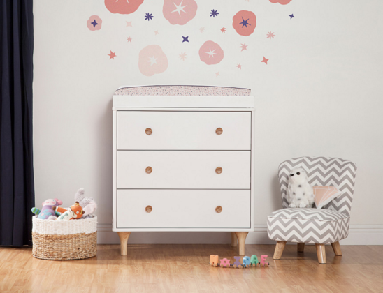 babyletto lolly dresser changer in white