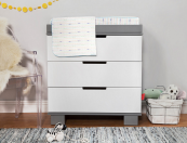 babyletto modo 3 drawer dresser changer in two tone