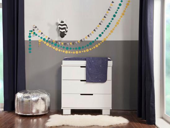 babyletto modo 3 drawer dresser changer in white
