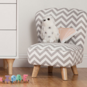 Pop Mini Chair Grey Chevron