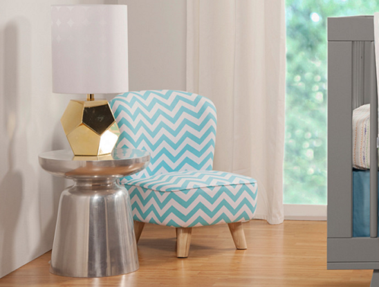 babyletto pop mini chair turquoise chevron