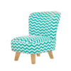 babyletto pop mini chair turquoise chevron side