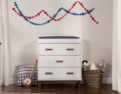 babyletto scoot dresser changer in two tone