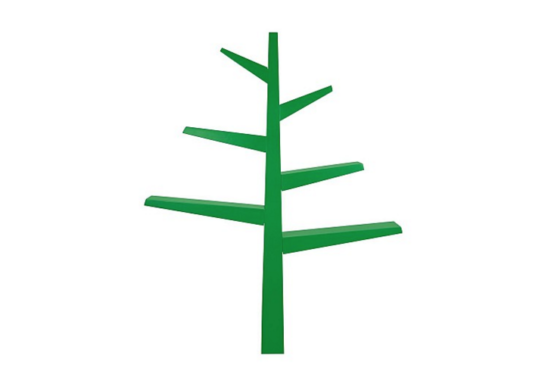babyletto spruce tree bookcase green front