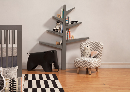 babyletto spruce tree bookcase green grey