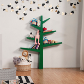 babyletto spruce tree bookcase green main