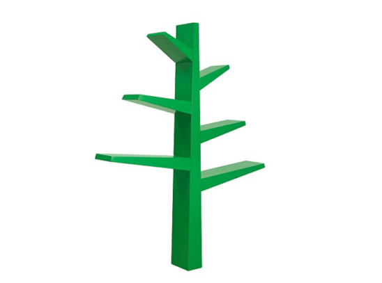 babyletto spruce tree bookcase green side