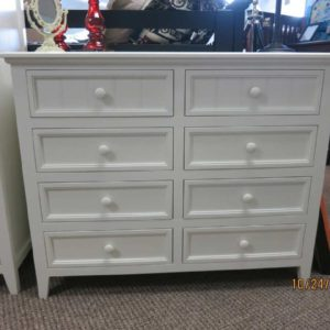 deluxe 8 drawer dresser in white