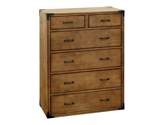 franklin & ben providence tall dresser rustic natural
