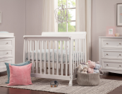 lani mini crib in white