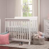 lani mini crib in white