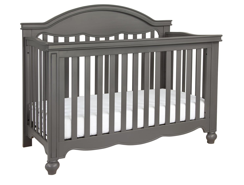 4 In 1 Convertible Crib Serta Grey 026 Fall River 4in1