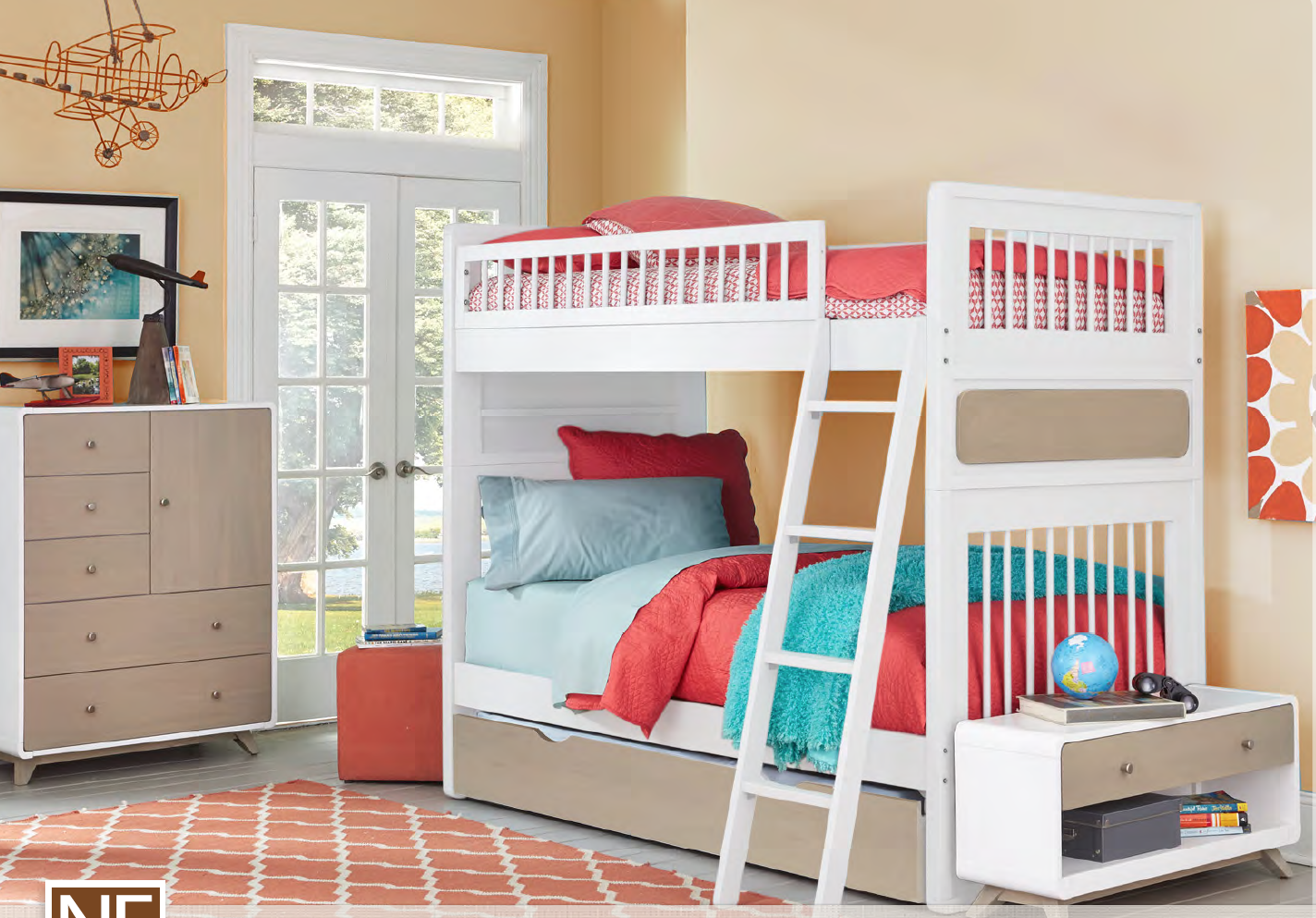 White Bunk Bed | Easton | Shop Kids Only Furniture