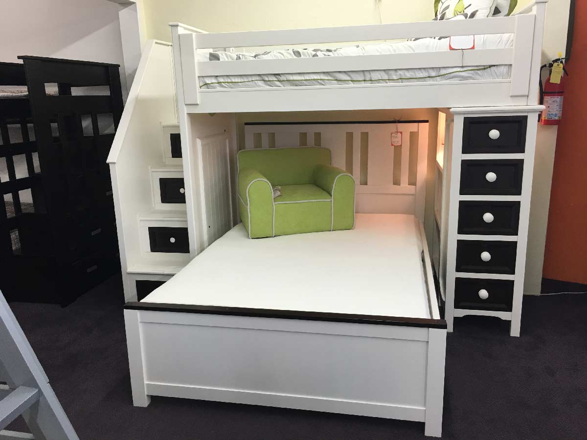 Milano Twin Xl Over Queen Stair Bunk Bed Kids Furniture In Los Angeles
