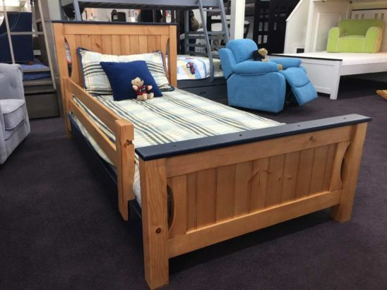 winchester toddler twin bed with guard rail