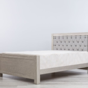 ventiani full size tufted bed in rustic finish by romina furniture