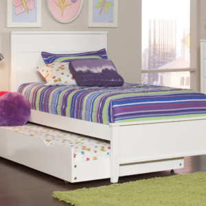 bayside twin platform bed in white finish