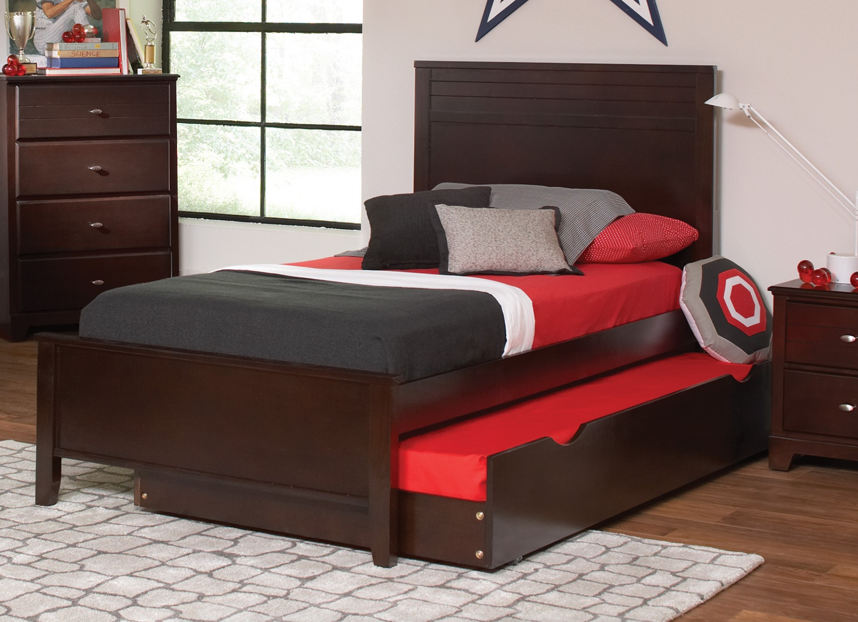 Bayside Panel Bed Kids Furniture In Los Angeles