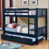 elliott twin over twin bunk bed in blue