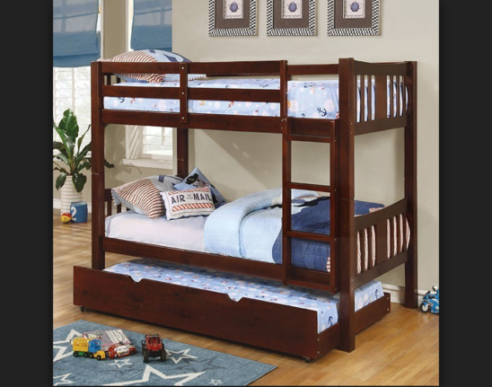 elliott twin over twin bunk bed in espresso