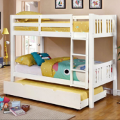 elliott twin over twin bunk bed in white