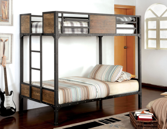 industrial twin over twin bunk bed