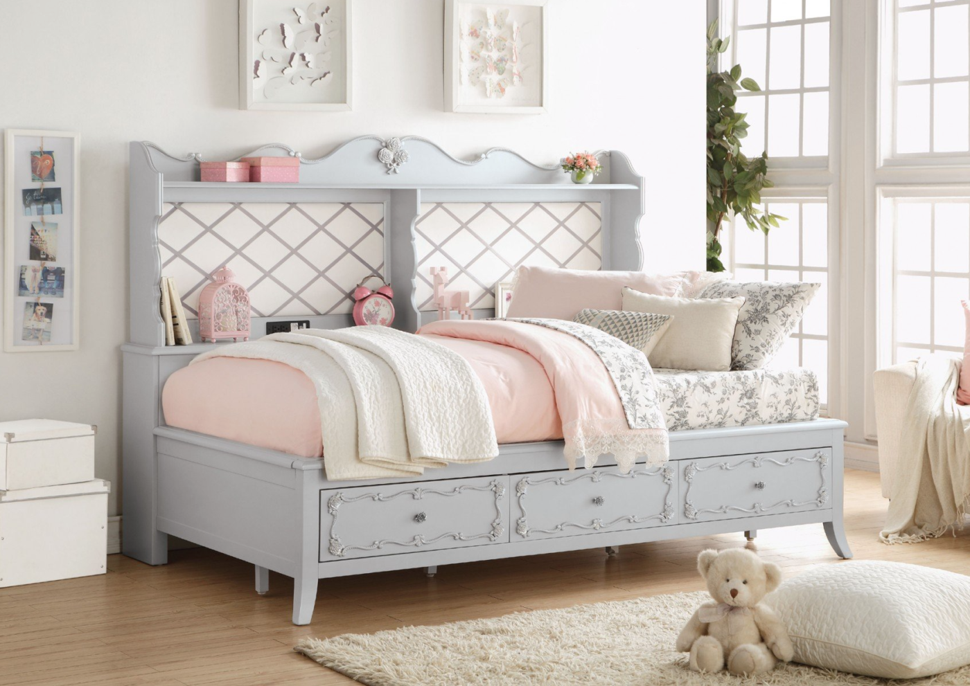 Grey Wooden Daybed