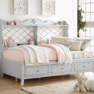 Alena Twin Daybed with Bookcase and Drawers