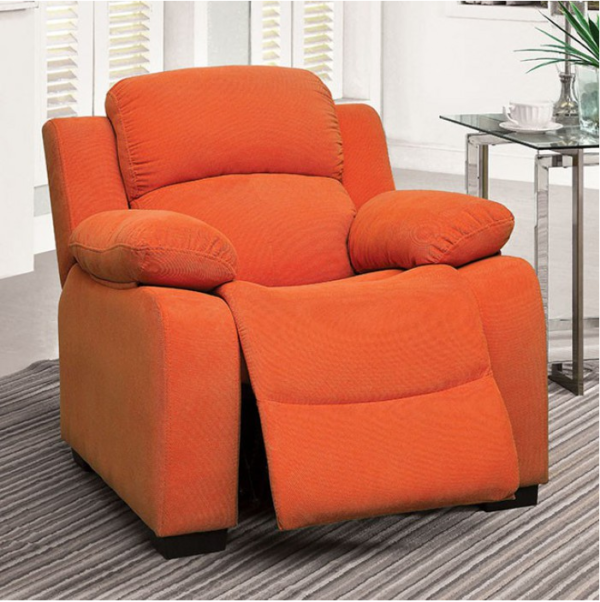 Allen Recliner Kids Chair in Orange