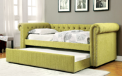 Chersterfiled Twin daybed with trundle in Lemon