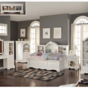 Ella Twin daybed with bookcase and drawers