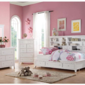 Lorie Bookcase Daybed with Drawers