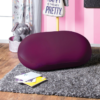 Pebble Bean bag in purple