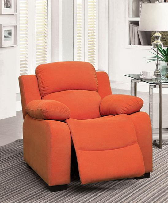 alen kids recliner in orange