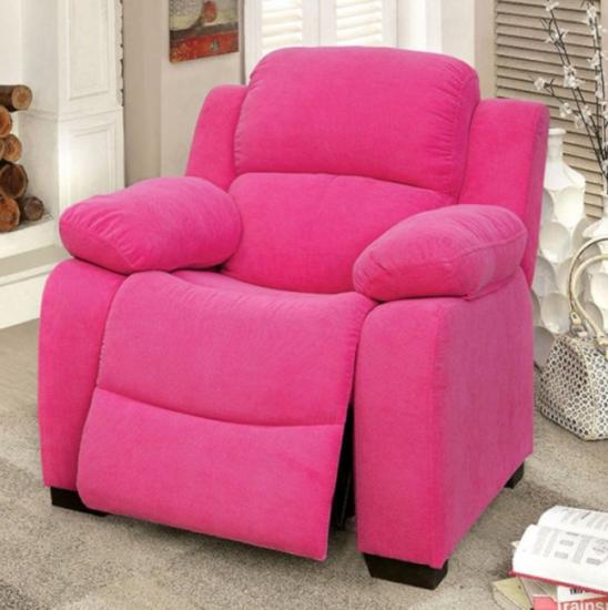 alen kids recliner in pink