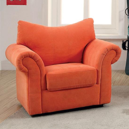 alma kids chair in orange