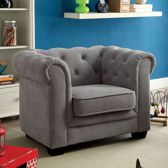 aron kids chair in gray