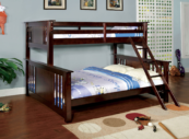 crestline twin xl over queen bunk bed in espresso