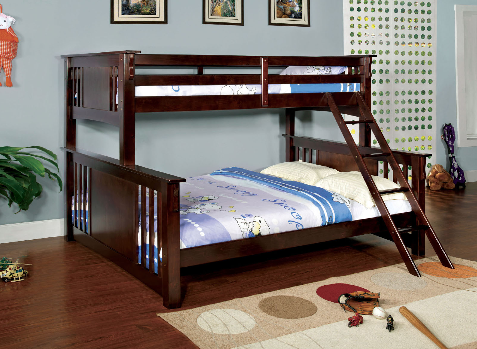 Crestline Twin Xl Over Queen Bunk Bed In Espresso Kids