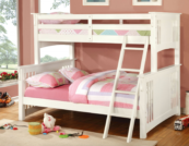 crestline twin xl over queen bunk bed in white