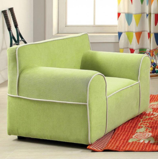 edna kids chair in green