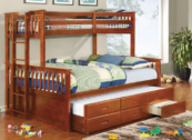 harvard twin xl over queen bunk bed in oak