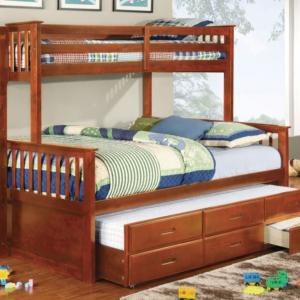 harvard twin xl over queen bunk bed in oak