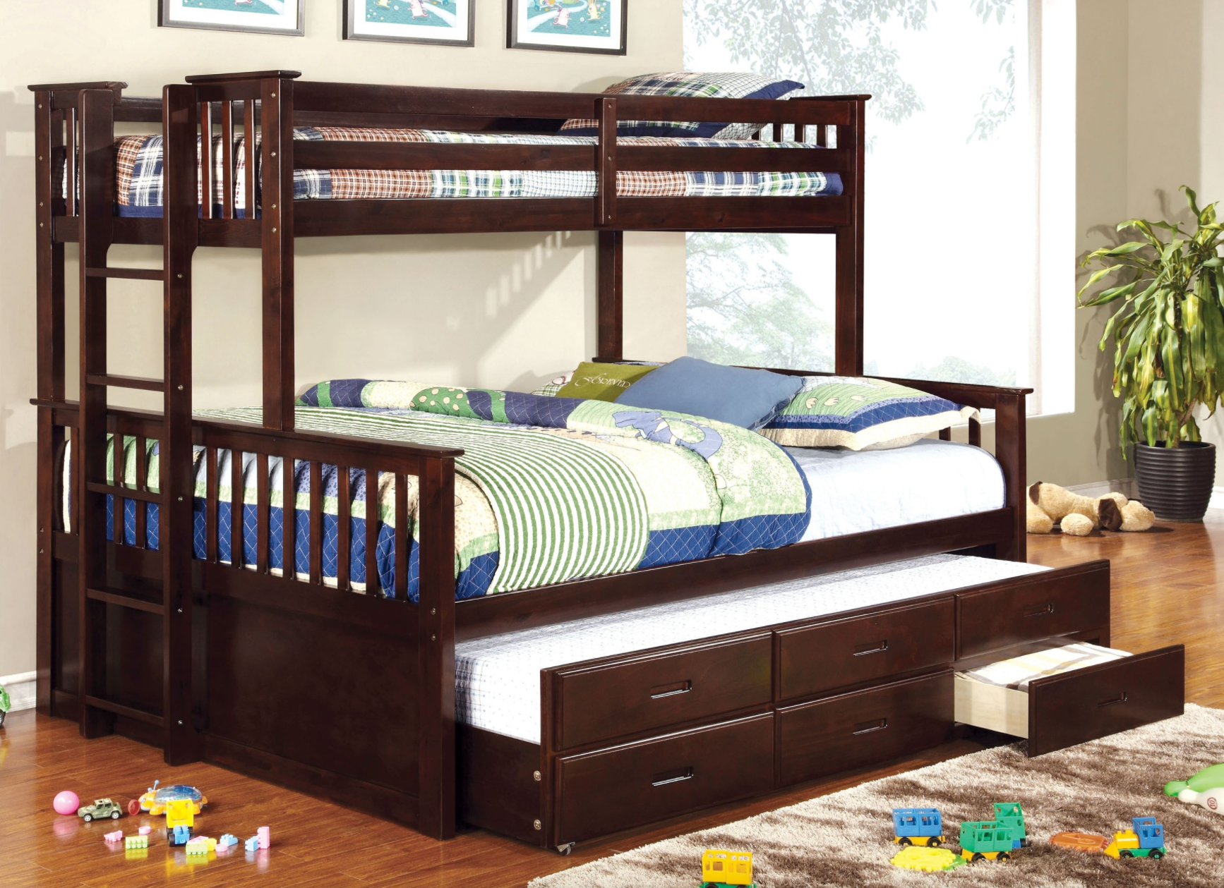 Harvard Twin Xl Over Queen Bunk Bed In Espressod Kids