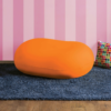 pebble bean bag in orange