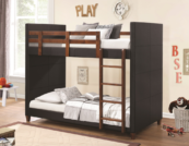 Beno Twin Over Twin leather bunk bed